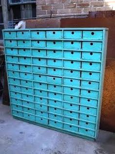I want one of these, and in every draw I would put one of my trinkets/childhood treasures, so it would be a surprise every time I open a drawer