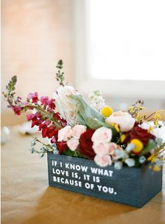 Darling floral centerpiece flower power pinterest floral adorable little quote centerpieces photo by ryan ray photography wedsociety junglespirit Choice Image