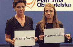 Aborcja czarny protest PO mobilizuje kobiety w całym kraju - Parlamentarny.pl