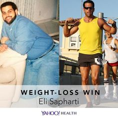 Eli Sapharti is 45, 6 feet tall, and in 2008 he weighed 290 pounds. Today, he's dropped to 190 pounds. This is the story of his weight-loss journey.