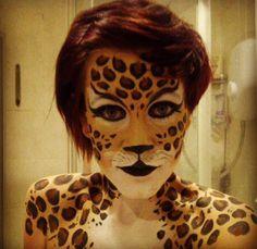 Leopard face paint