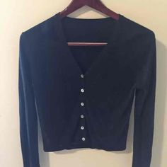 Black knit professional cardigan Sz MED - Mercari: Anyone can buy & sell