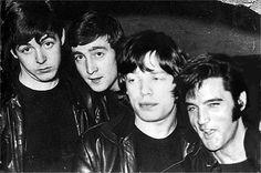 Paul McCartney, John lennon, Mick Jagger & Elvis Presley.4 Legends!