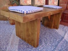 ♥*SALE* 6CM THICK 8ft Rustic Reclaimed Pine Dining Plank Top Table Chair BENCH ♥