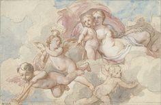 Venus with Cupid and putti by Charles-Joseph Natoire, 1710-1777. Rijksmuseum, Public Domain