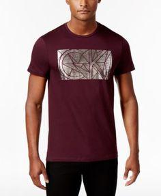 9483b80cf77b4 CALVIN KLEIN Calvin Klein Men s Foil Graphic-Print T-Shirt.  calvinklein