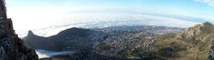 """Cape Town's """"City Bowl"""" viewed from Table Mountain"""