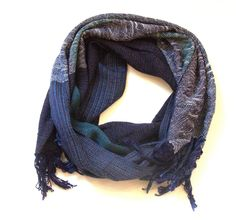 Cora handwoven cotton scarf or shawl
