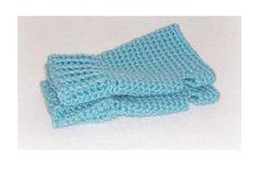 Aqua Blue Fingerless Gloves Hand Crochet by ICreateAndCollect