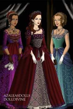 The three sisters ~ by shanshan ~ created using the Tudors doll maker | DollDivine.com
