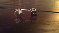 Pac Man stud earring really cute sterling silver by naahug on Etsy, $13.99