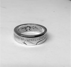 Coin Ring from 1943 90% silver half dollar.