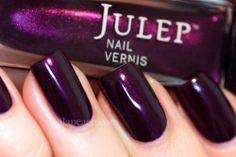 New Julep Nail Polish Trina Nail Vernis Deep Aubergine Shimmer | eBay