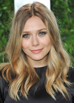 Elizabeth Olsen - her hair is lovely. Love the honey-coloured tips and how shiny it is!