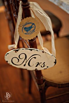 Rustic Aisle sign for bride and groom