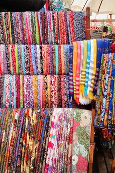 coloured fabrics in the Ubud markets, Bali, Indonesia.Brightly coloured fabrics in the Ubud markets, Bali, Indonesia. Bali Travel Guide, Asia Travel, Ubud, Timor Oriental, Bali Lombok, Bali Holidays, Bali Fashion, Balinese, Beautiful Islands
