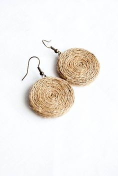 Eco-friendly earrings - Hemp unique jewelry.