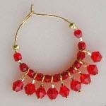 Hoops Earrings made using WigJig  jewelry tools, beads and jewelry making supplies.