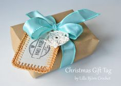 Christmas Gift Tag and Garland - crochet tutorial by Lilla Bjorn Crochet
