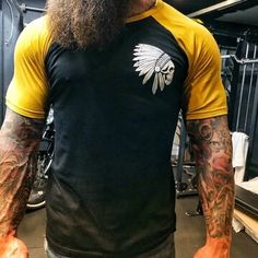 Chief colorblock print T-shirt – colorfultop Casual T Shirts, Cool T Shirts, Men Casual, T Shirt And Shorts, Printed Shorts, Men Shirt, Textiles, Mens Fashion, Fashion Outfits
