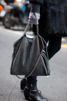 Stella McCartney--Falabella Eco Linen Python Bag