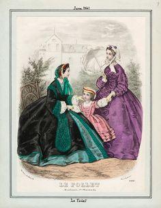In the Swan's Shadow: Le Follet, June 1861  Civil War Era Fashion Plate