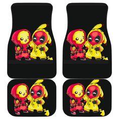 Pikachu Deadpool Front And Back Car Mats Deadpool Car, Deadpool Funny, Car Mats, Car Floor Mats, Gengar Pokemon, Pikachu, Harry Potter Car, Christmas Car, Back Pieces