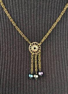 Sieh dir dieses Produkt an in meinem Etsy-Shop https://www.etsy.com/de/listing/528253191/chainmaille-collier-calavera-byzantine