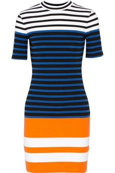 T by Alexander Wang color-block stretch cotton minidress