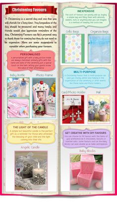 Ideas for Christening Favours
