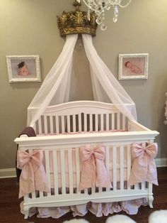 Silk Bow Accents for Cribs, Cradles, Room Decor, Curtain Tie-backs available in all colors by CatysCribs on Etsy https://www.etsy.com/listing/186354183/silk-bow-accents-for-cribs-cradles-room
