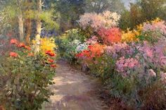 Maher Art Gallery: Kent R. Wallis born January in Ogden, Utah Wallis, Impressionist Paintings, Landscape Paintings, Landscapes, Carmel California, Garden Painting, Painting Videos, Pastel Art, Famous Artists