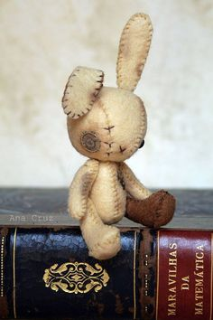 Steampunk Bunny! I NEED him to go with my steampunk BLythe!!! $30