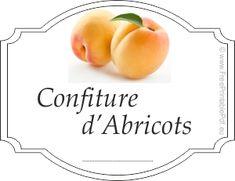 Étiquettes pour confiture d'abricot gratuit | Gratuit PDF imprimable