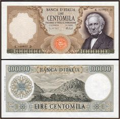 Collezione Personale di Banconote Italiane: 0.3.3. - 100000 LIRE MANZONI