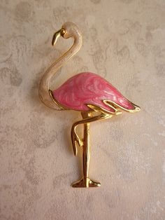 Vintage flamingo brooch.