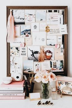 // desk inspiration / office interior design / office decor ideas / creative off. - // desk inspiration / office interior design / office decor ideas / creative office space / dream w - Workspace Inspiration, Inspiration Boards, Fashion Inspiration, Travel Inspiration, Office Interior Design, Office Interiors, Design Desk, Organisation Des Photos, Desk Organization