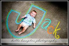 names, sidewalk chalk and kids