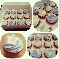 Flower and star cupcakes #sweetboutique