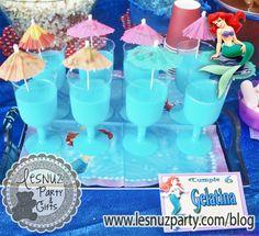 La mejor fiesta bajo el mar de Ariel, la Sirenita - gelatina