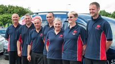 Team members at Stansted Airport