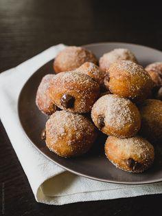 Nutella Filled Mini Doughnuts| www.kitchenconfidante.com
