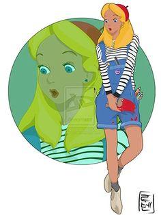 Alice au Pays des Merveilles relookée étudiante tendance