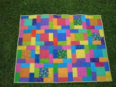 Bright beginnings baby quilt by Eowynt on craftster