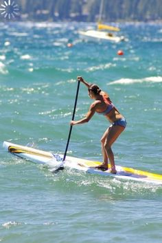Pressing the paddle through the tough surf