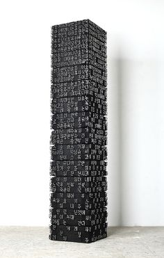 Art made of wood and nails, by Jae-Hyo Lee.