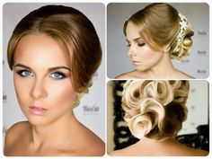 Свадебная прическа и макияж От Ларисы Реча - YouTube