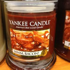 #bacon have this! It's awesome! Smells so real. I'm surprised I haven't bit a chunk out the wax yet!