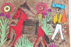 Exquisite Mexican-Hispanic Amate Folk Art Painting / by TheBlueRam