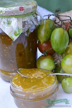 Dulceata de Gogonele Canning Pickles, Jam And Jelly, Romanian Food, Lebanese Recipes, Canning Recipes, Good Food, Food And Drink, Homemade, Dinner